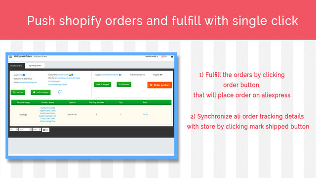 Order fulfillment  and Tracking