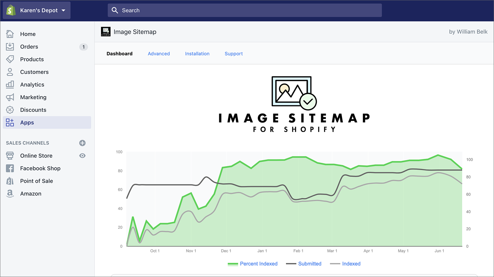 Image Sitemap for Shopify Screenshot