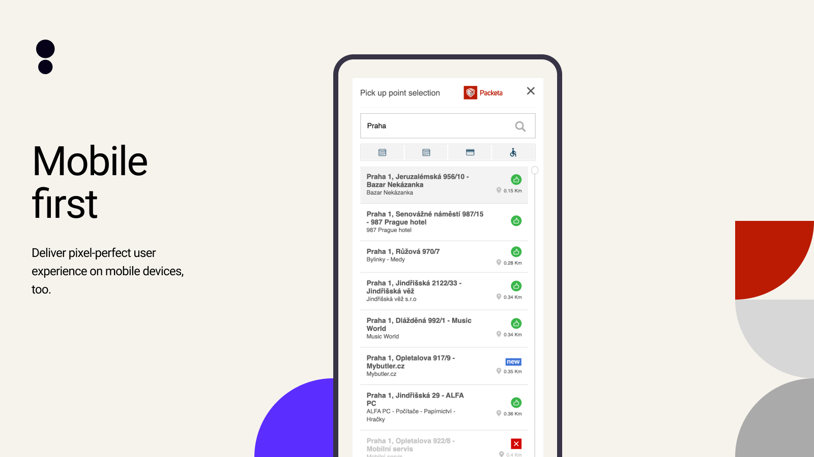 Deliver pixel-perfect user experience on mobile devices, too.