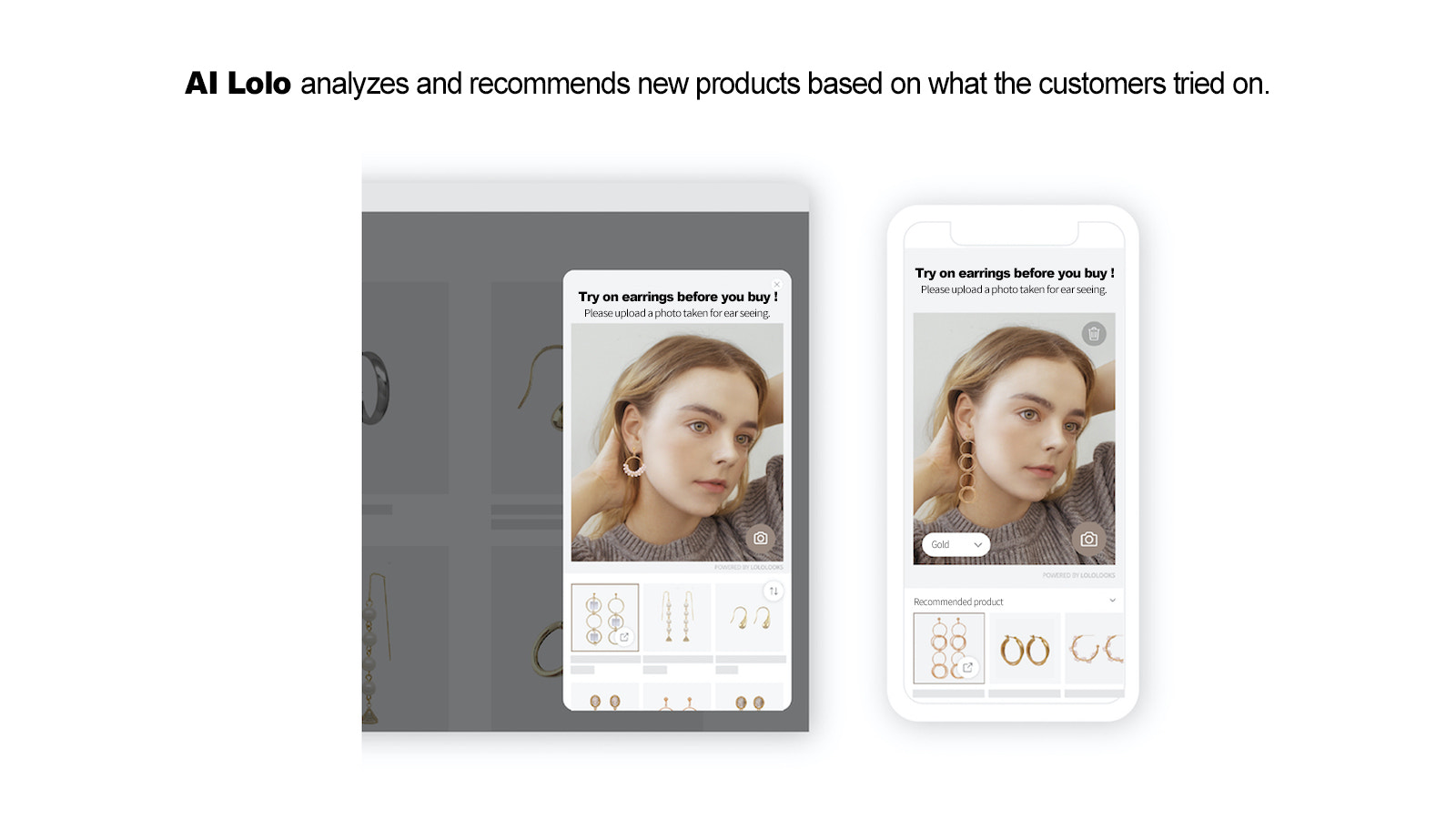 AI Lolo analyzes and recommends new products.