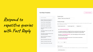Respond to common ecommerce queries with macros in two clicks.