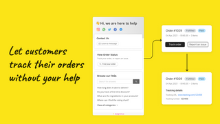 """Automate """"where's my order?"""" tracking queries."""