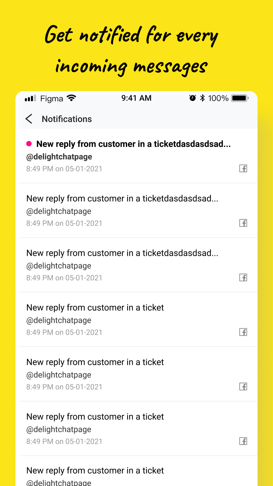 get notified with every new message