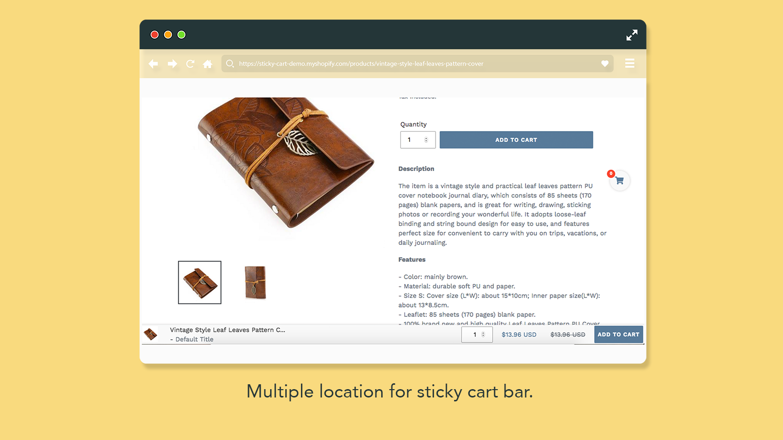 Sticky Buy Now Button & Floating Cart