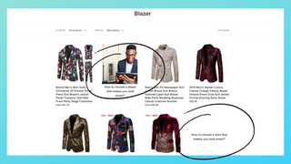 Blog articles in collection with one image
