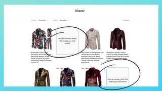 Blog articles in collection without images
