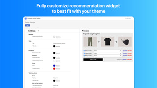 Fully customize visual styles of product recommendations widget