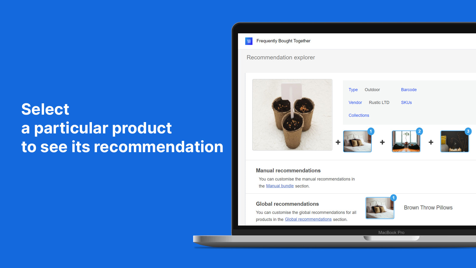 Select a product to see its recommendations