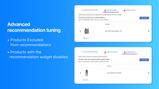 Advanced product recommendation tuning