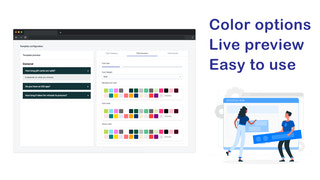 Color options, live preview, easy to use