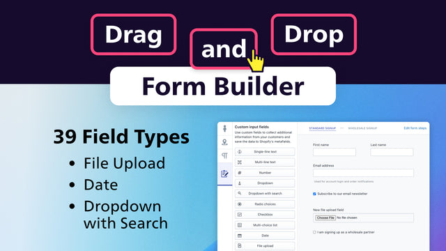 Powerful drag and drop form builder