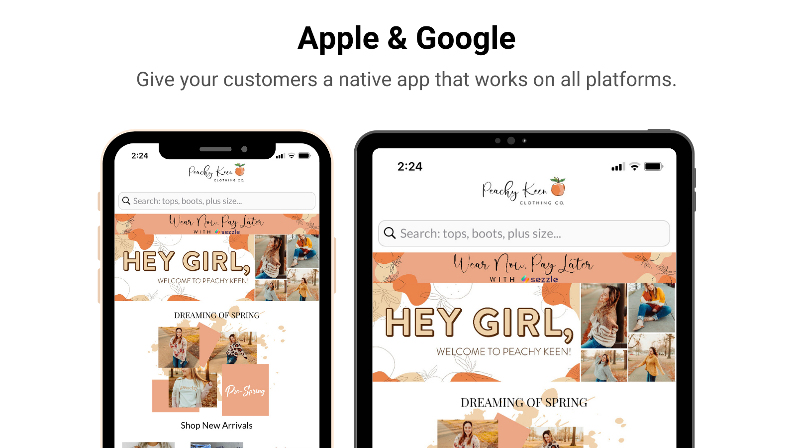 Apple and Google Mobile App