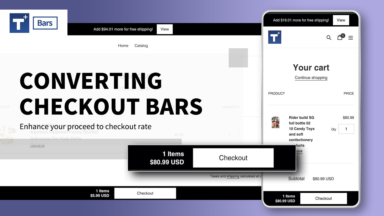 Converting Proceed to Checkout Bar