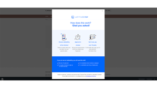 Latitude Modal on Product Page