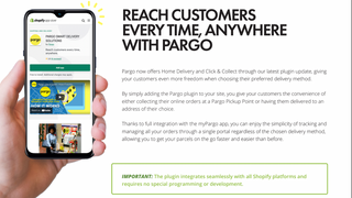 Reach customers every time, anywhere with Pargo
