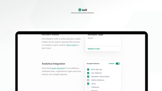 Plug-and-play marketing automation integration & snippet on/off