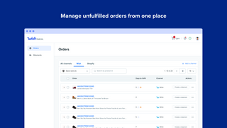Manage unfulfilled orders from on place