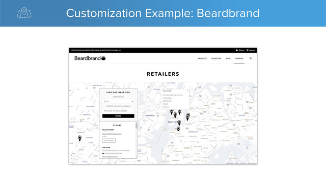 product map