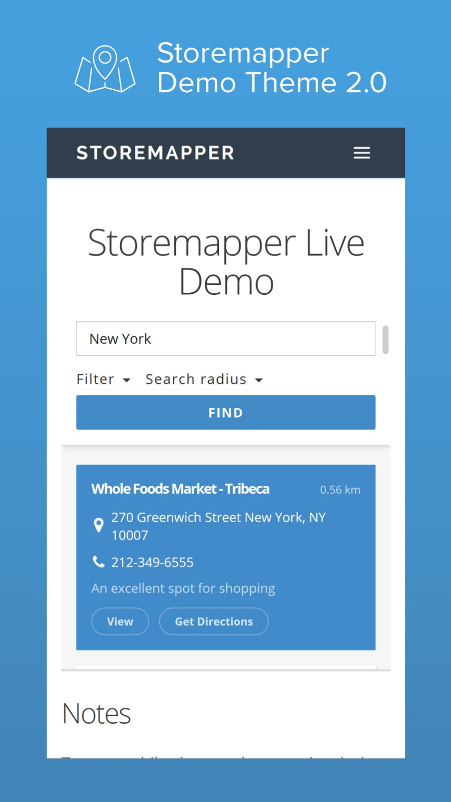 product map and store locator app