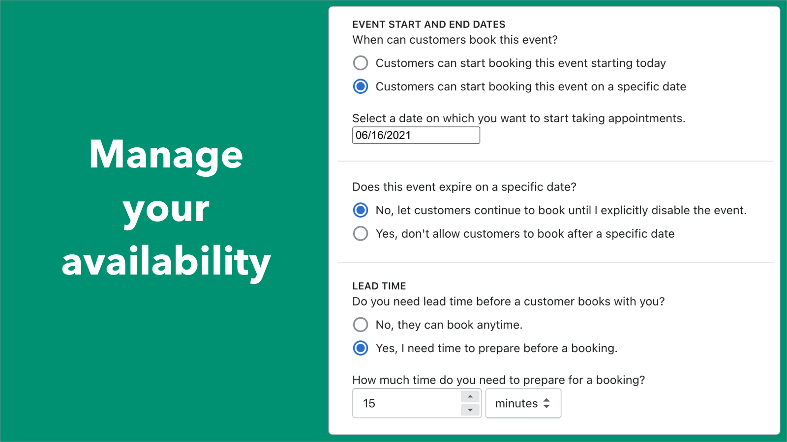 Manage your and your team's schedule