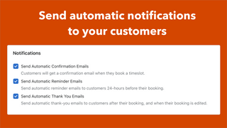 Send automatic email reminders for each appointment