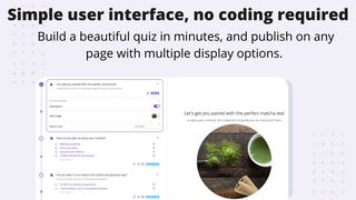 No Coding Required - build and launch a responsive quiz