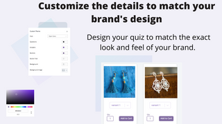Match Your Brand's Design - customize every detail of your quiz