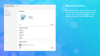 Membership portal lets members view and edit their information