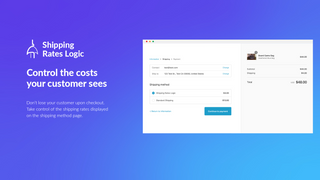 Take control of the shipping costs your customer sees.