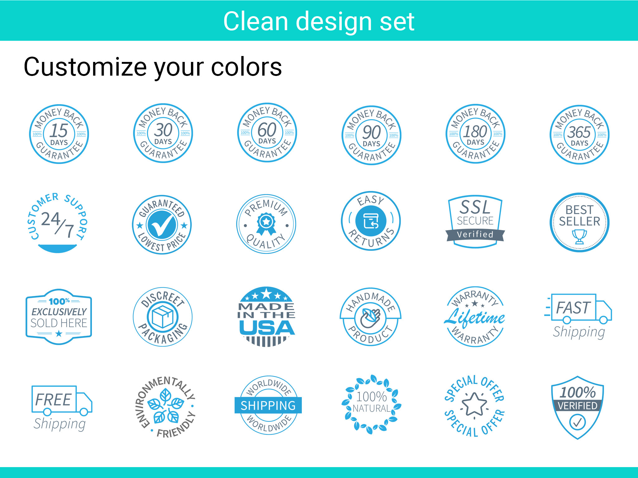 clean trust icons