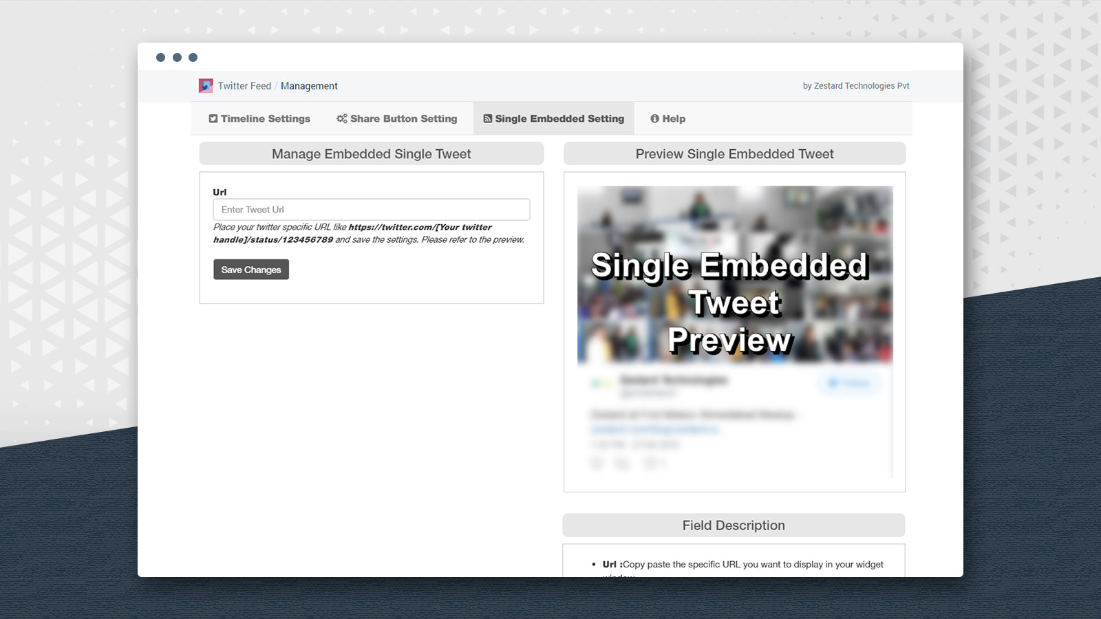 single embedded page