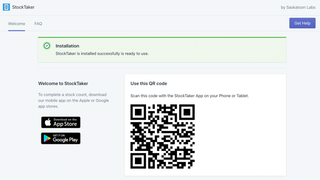 installation screen sign in to mobile app with QR code