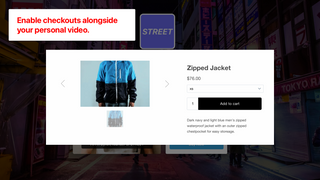 Add to cart on alongside your video