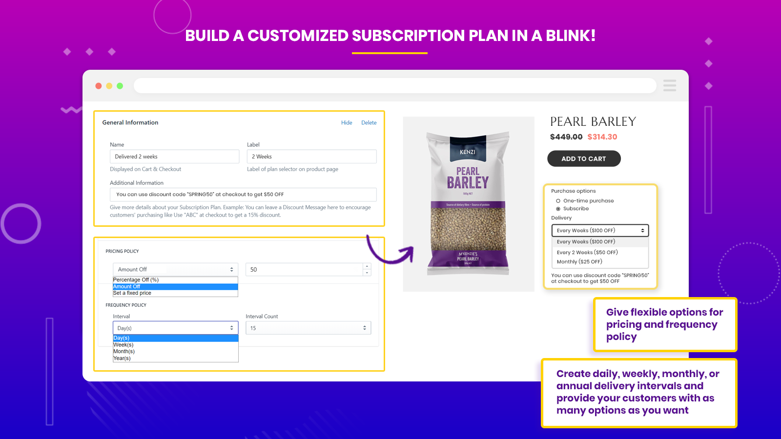 subscriptions and recurring pay create subscription groups