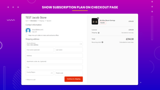 subscriptions and recurring pay checkout page