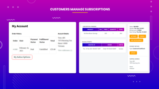 subscriptions and recurring pay managing customers