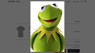 When clicked, cart thumbnails show beautiful preview images