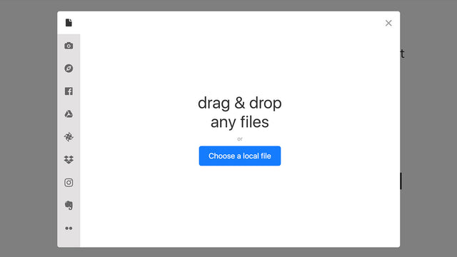 Different ways to upload or import files