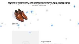 Decorate your store with snowflakes for the winter holidays