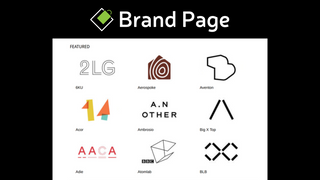 Brand page with logos