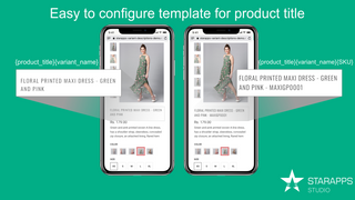 shopify product title change based on variant - product options