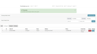 after import, user can choose order to outbound.