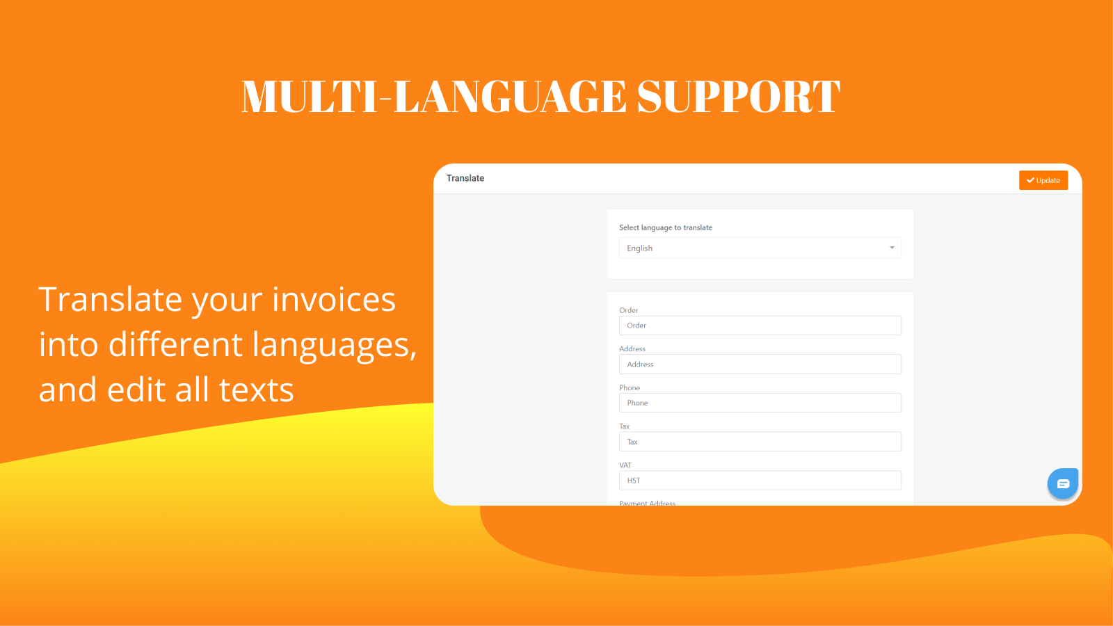 Multiple languages supported