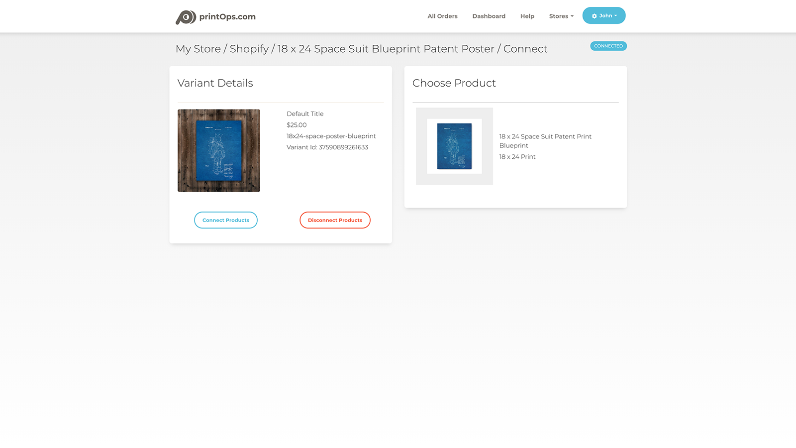 Shopify variant page