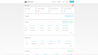 Store dashboard view