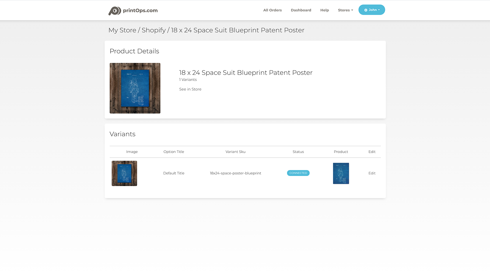 Shopify product details page