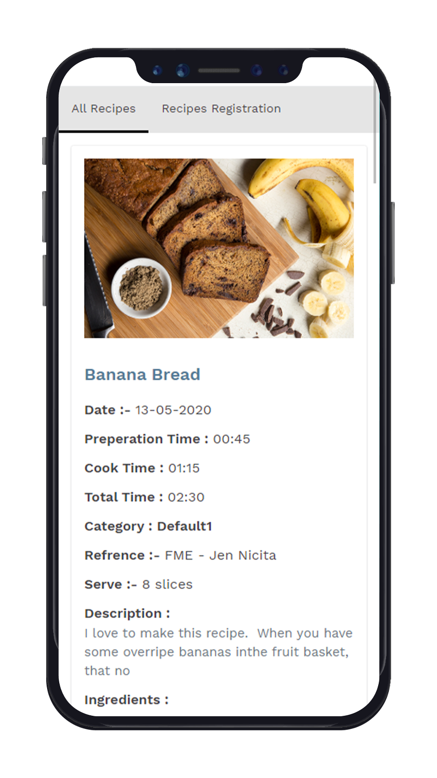 Recipe In Frontend Mobile