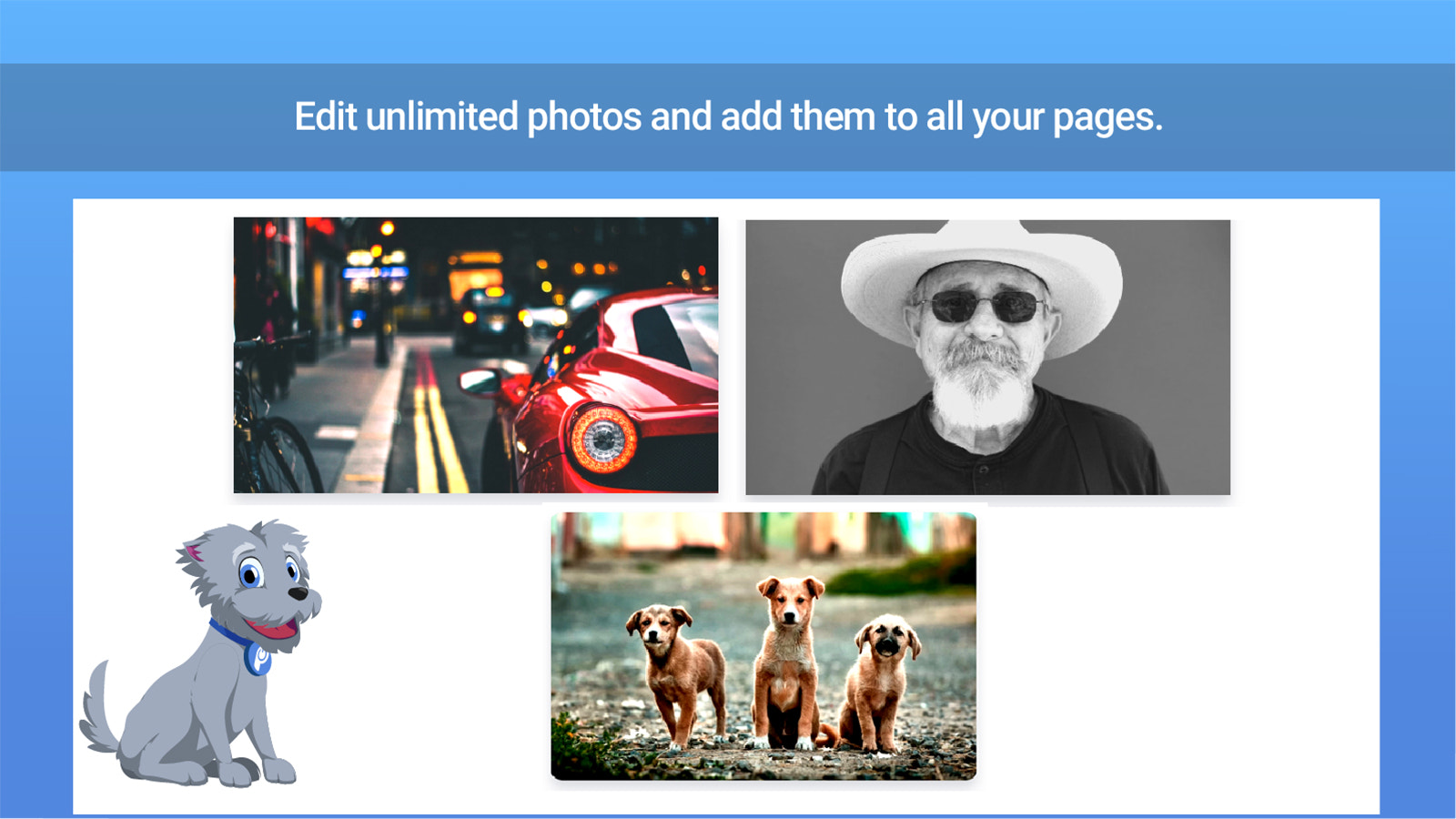 Shopify app to edit photos with filters.