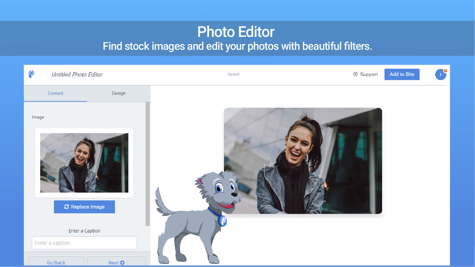 Add gorgeous filters to your photos.