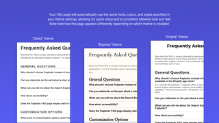 FAQ page created with Faqtastic